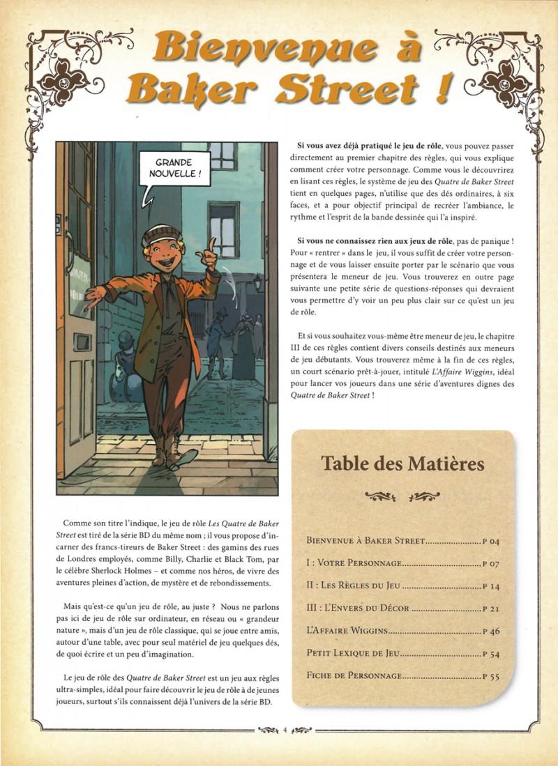 Les Quatre de Baker Street, extrait du Jeu de Rôle