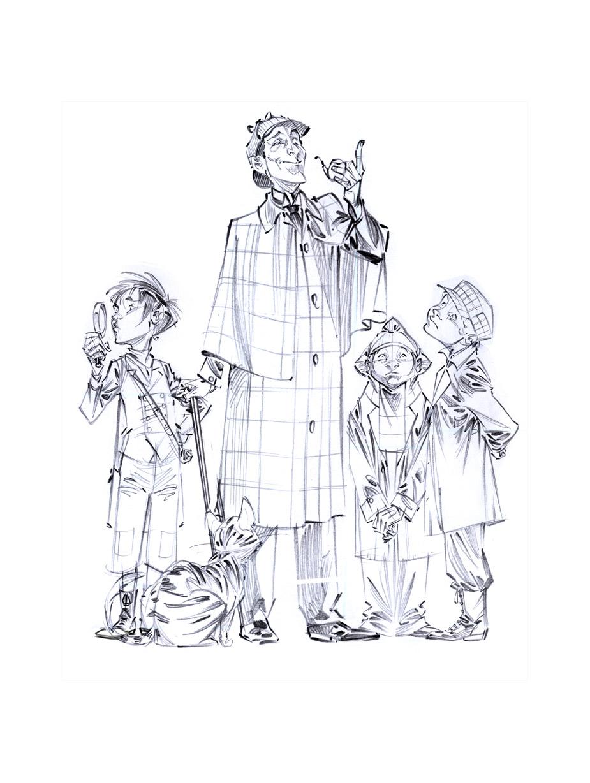 Holmes et les Quatre de Baker Street © David Etien