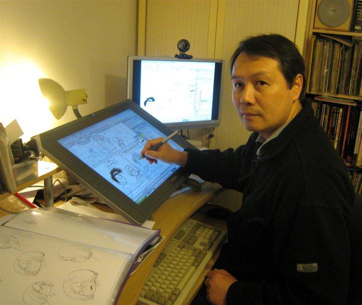 Olivier Taduc dans son atelier