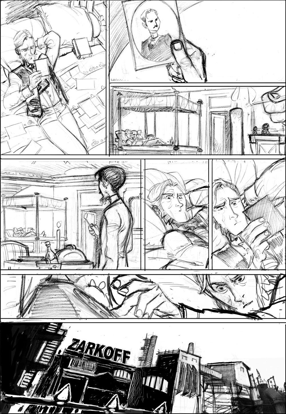 troisième  version board de la page 22 © Glénat / Pierre Alary