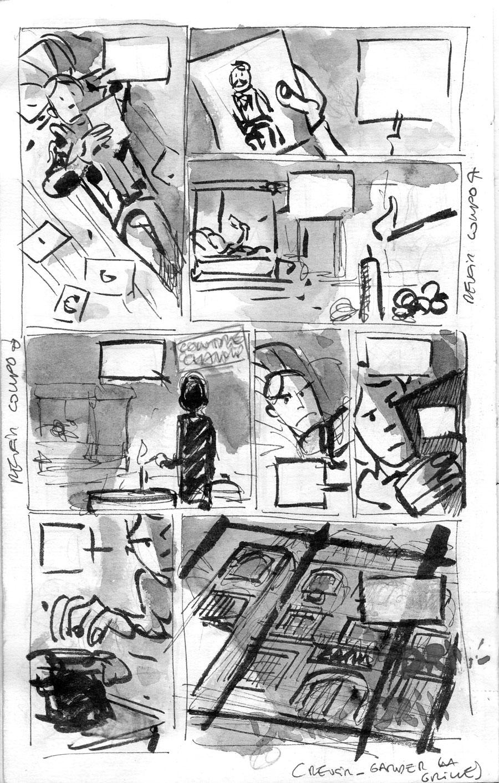 Silas Corey, story-board de la page 22 ©  Pierre Alary
