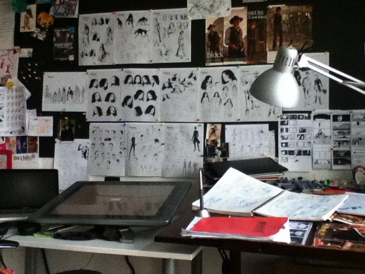 L'atelier du dessinateur © Mikaël