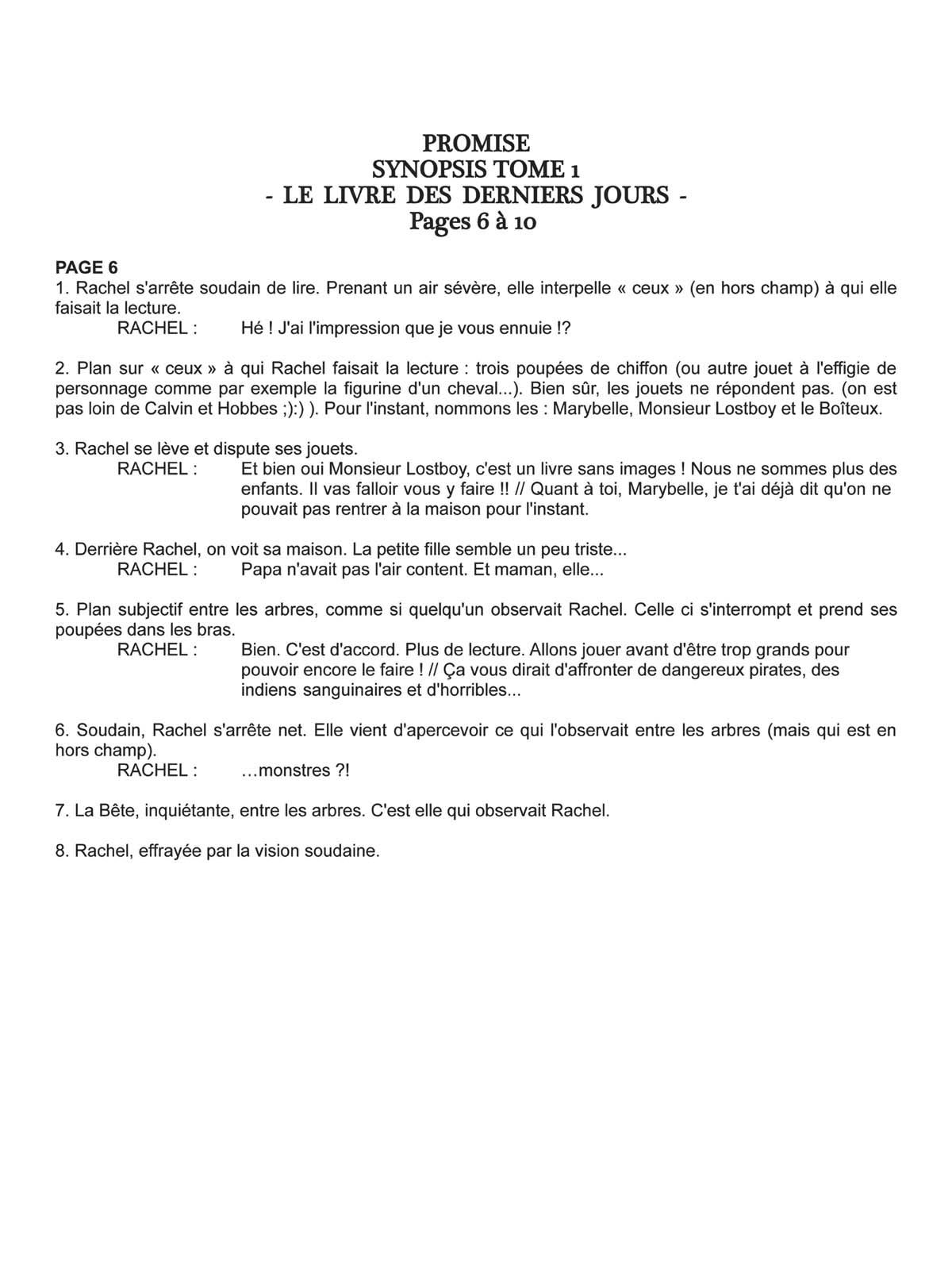Découpage de la planche 6 du tome 1 © Thierry Lamy