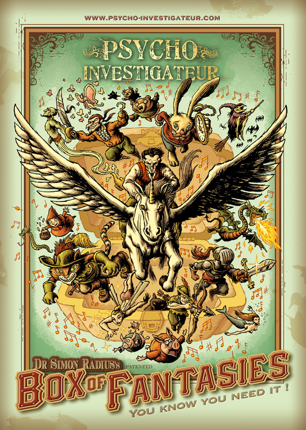 Psycho-Investigateur, carnets (mise en page) © Physalis / Dahan / Courbier