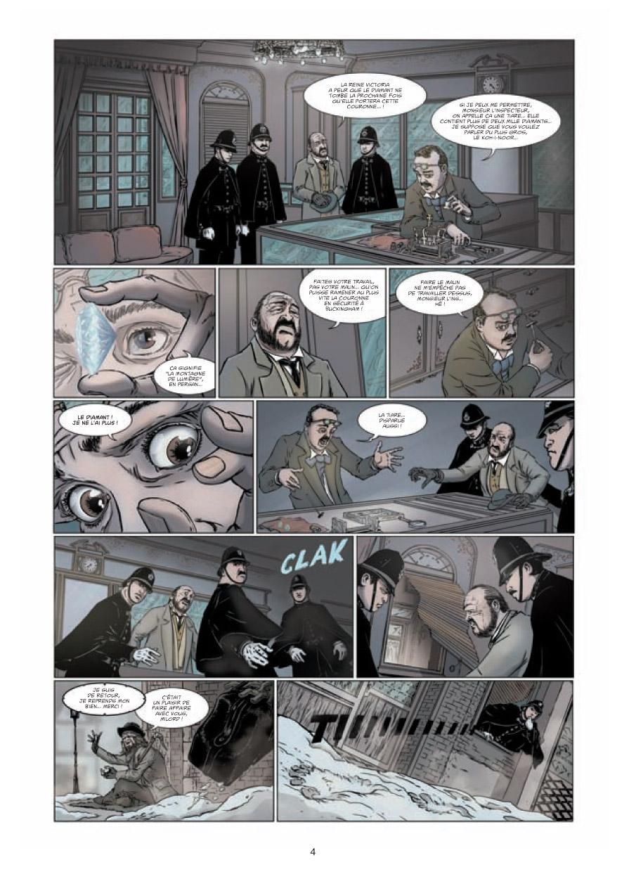 Le Retour de Dorian Gray, planche du T1