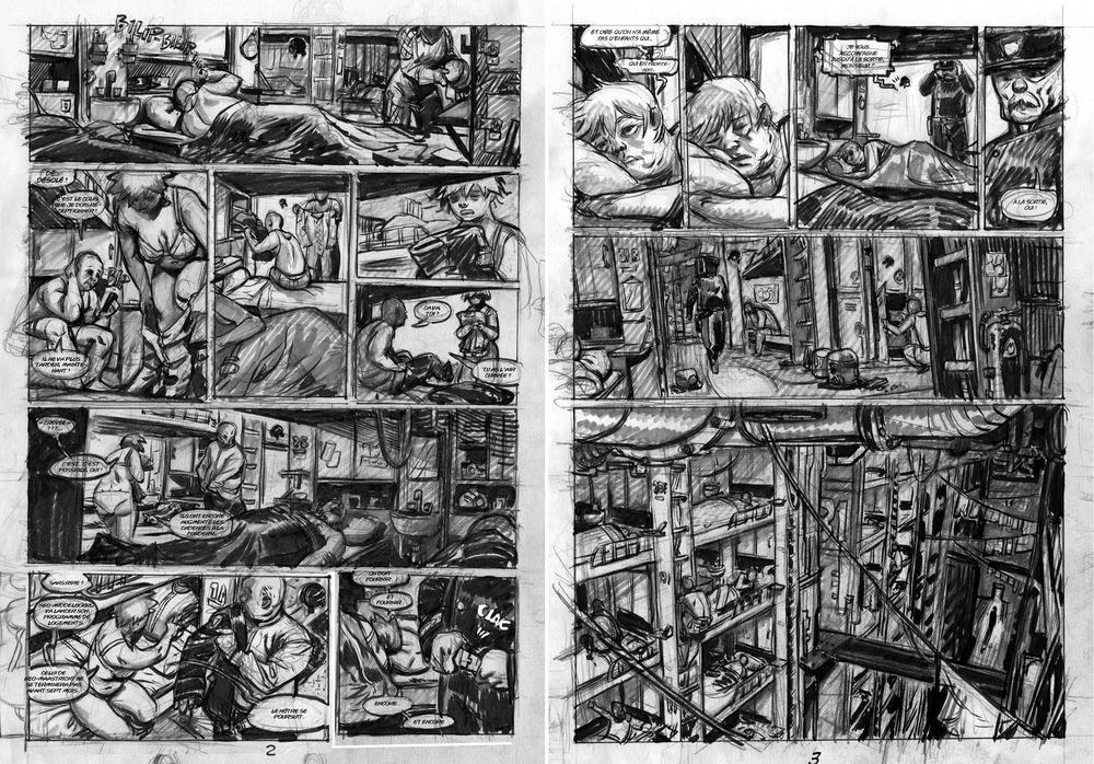 rough de la planche 2 et 3 du tome 2
