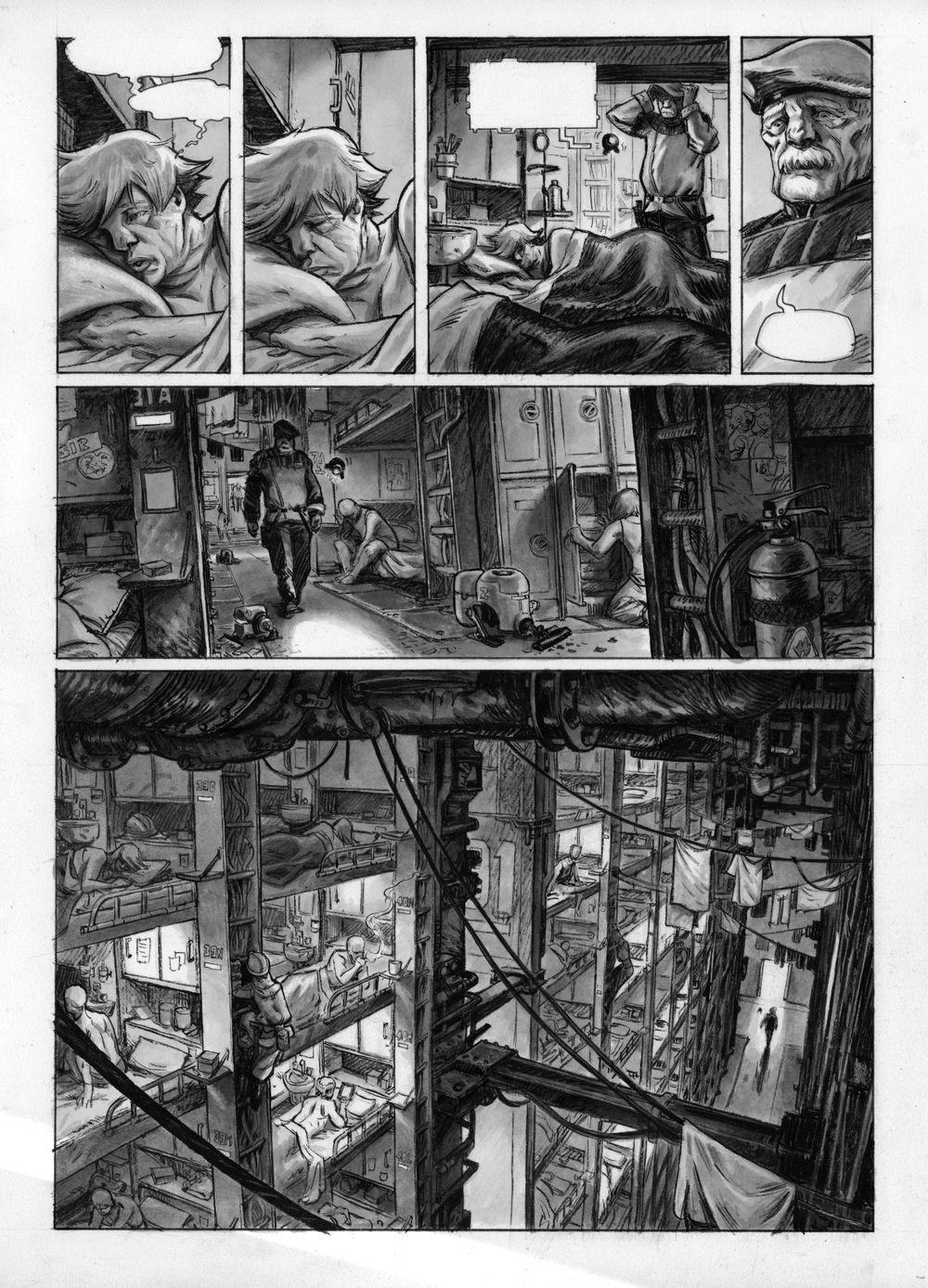 planche 3 du tome 2, version noir et blanc