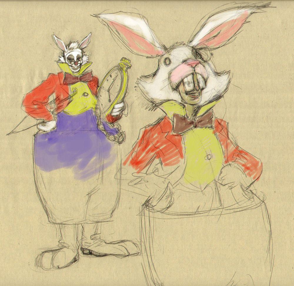 Springy dans son célèbre déguisement de lapin...
