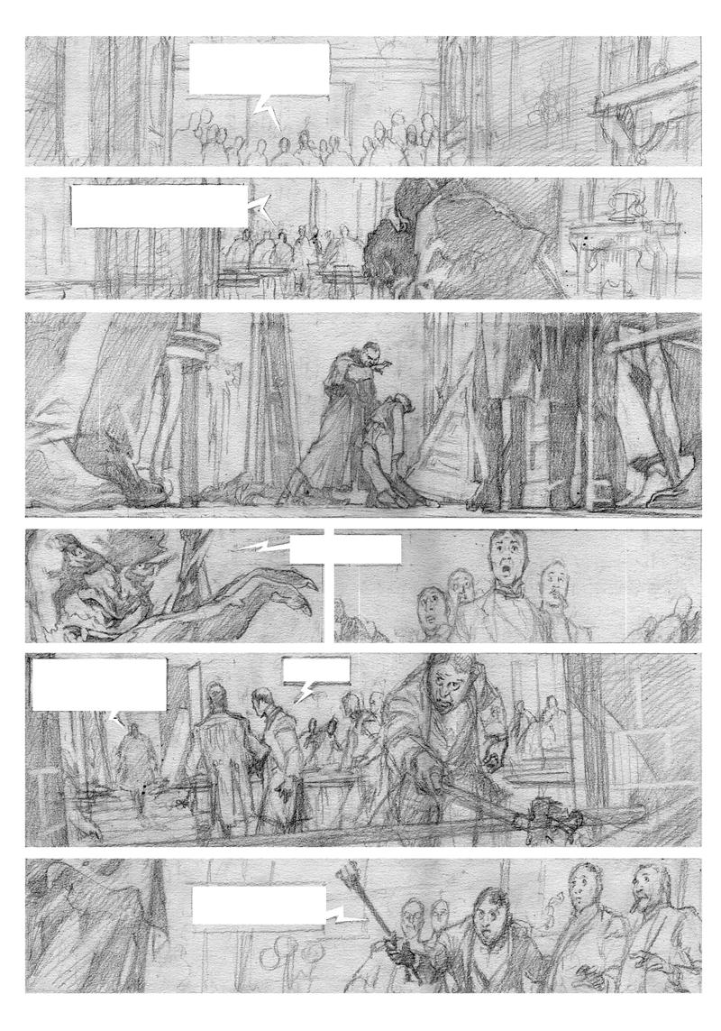 Crayonné de la page 22 ©Laci