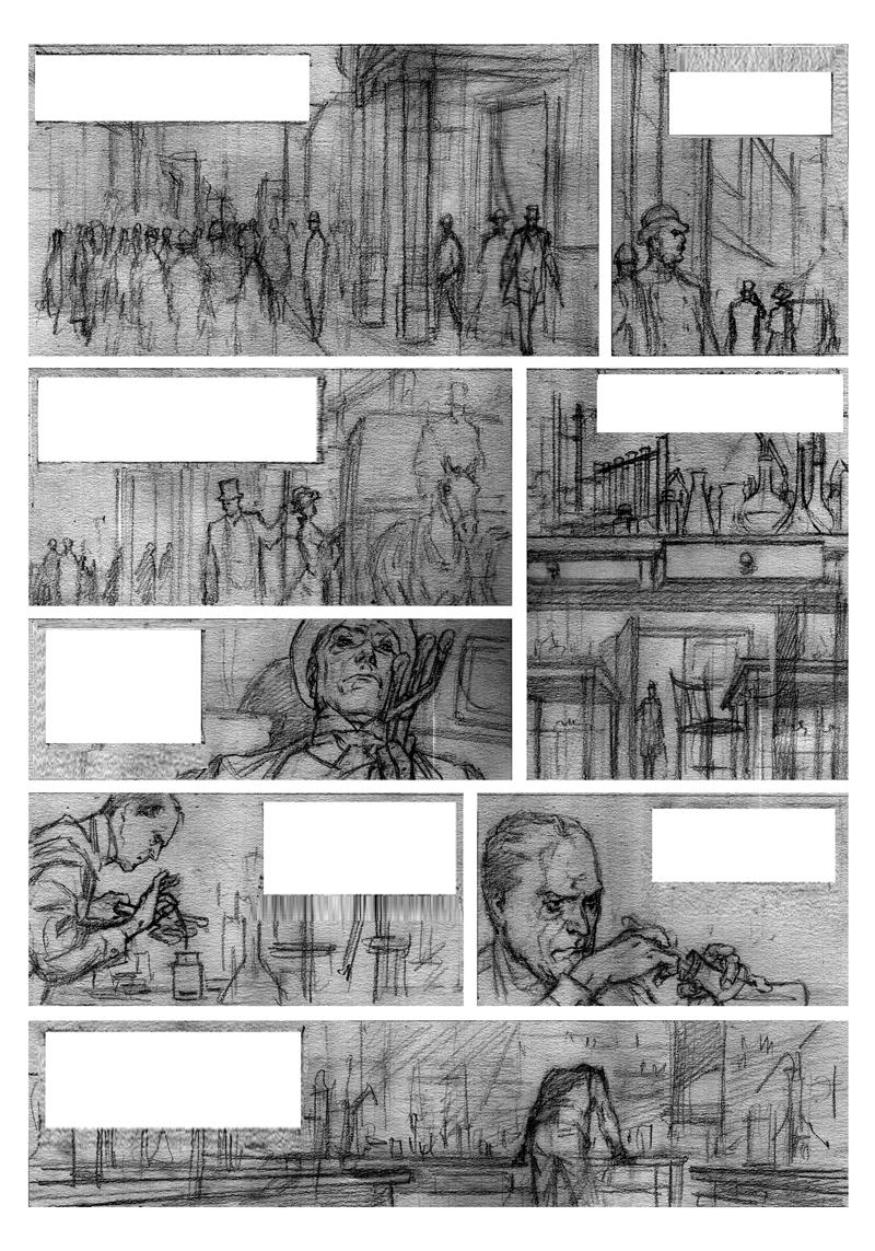 Crayonné de la page 32 ©Laci