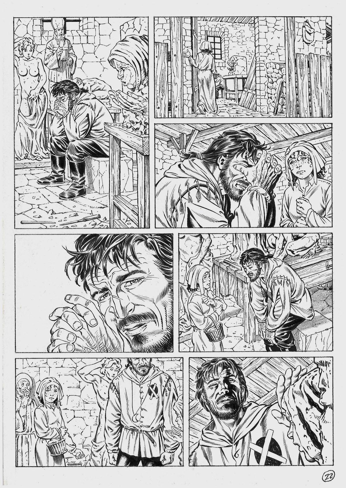 Encrage, page 22 du tome 1 de François sans nom © Marco Bianchini
