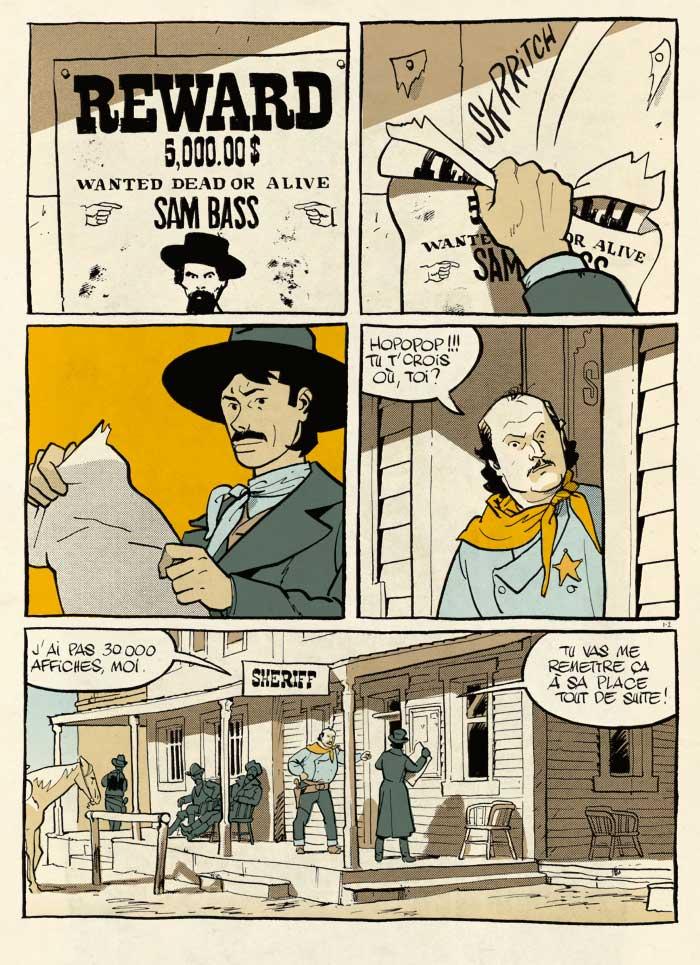 Texas Cowboys, planche du tome 1