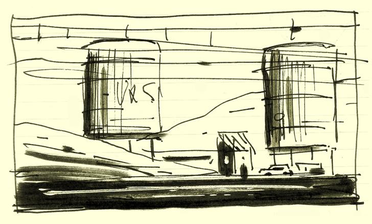 Zone industrielle en bordure de voie ferrée (recherche préparatoire pour Au vent mauvais) - © Thierry Murat - 2012