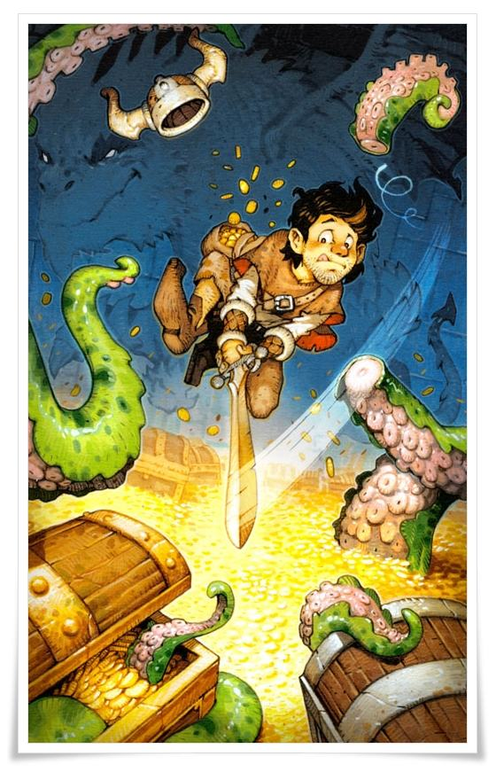 Illustration de la couverture de Tschak! © Vincent Dutrait /  Gameworks