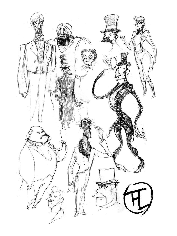 Toulouse-Lautrec, recherche de personnages © Glénat / Dumont / Bleys / Drac