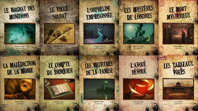 Couvertures des 10 livrets d'enquête©Ystari / Arnaud Demaegd