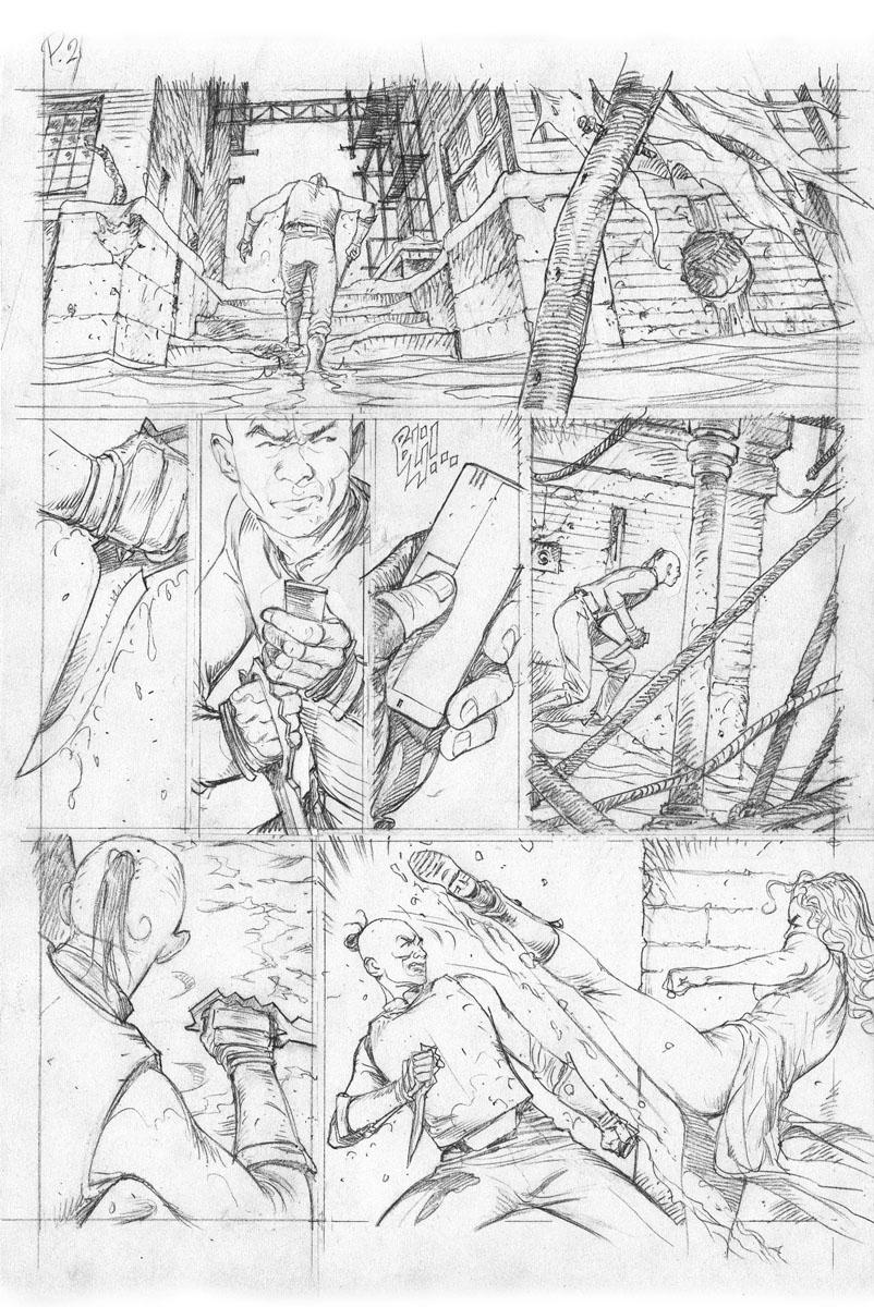 dessin final de la planche 21 du tome 2 de Ab Irato © Thierry Labrosse