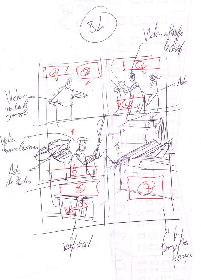 Storyboard de la planche 84© Casterman / David François