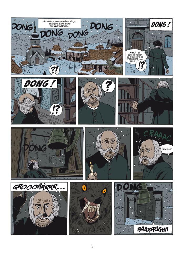 Les Démons des Carpathes, planche T1
