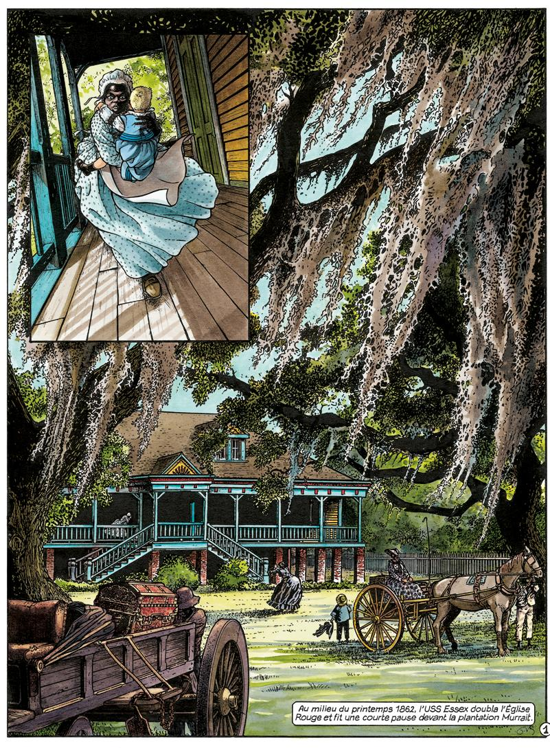 La Petite Fille du Bois Caiman, planche livre I