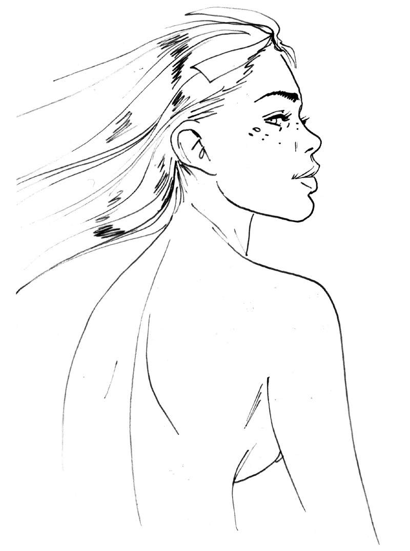 Marie de profil © Jim