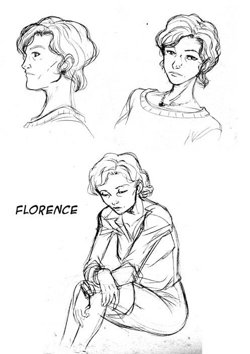 Recherche pour le personnage de Florence©Ullcer